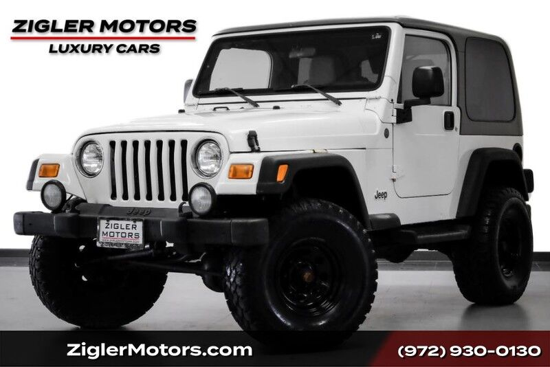 2004 Jeep Wrangler Sport 2 Dr Hard Top Big Wheels and Tires RHINO WHITE PAINT Addison TX