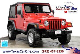 2004_Jeep_Wrangler_X 4WD AUTOMATIC SOFT TOP CONVERTIBLE VINYL SEATS TOWING HITCH AL_ Carrollton TX