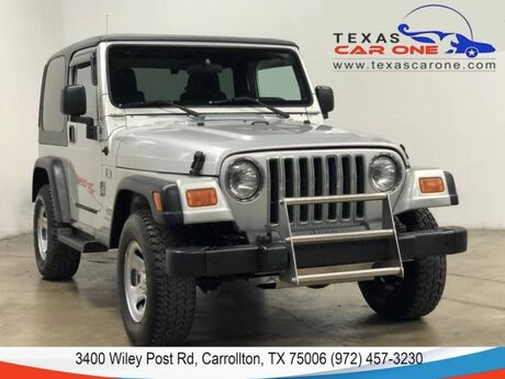 2004 Jeep Wrangler X 4WD HARD TOP CONVERTIBLE AUTOMATIC RUNNING BOARDS TRAILER HITC Carrollton TX