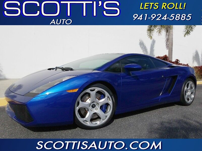 2004 Lamborghini Gallardo COUPE~JUST SERVICED WITH CLUTCH!~ CLEAN CARFAX~ AWESOME COLOR~ PADDLE SHIFTERS~ FINANCE AVAILABLE Sarasota FL