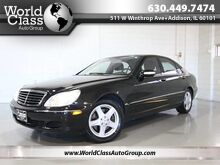 2004_Mercedes-Benz_S-Class_5.0L - 4MATIC AWD BOSE AUDIO BLACK LEATHER HEATED SEATS SUNROOF POWER REAR SUNSHADE_ Chicago IL
