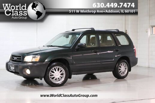 2004 Subaru Forester (Natl) X - AWD LEATHER INTERIOR CD PLAYER POWER WINDOWS ALLOY WHEELS COMPASS CLEAN INTERIOR CARGO COVER Chicago IL