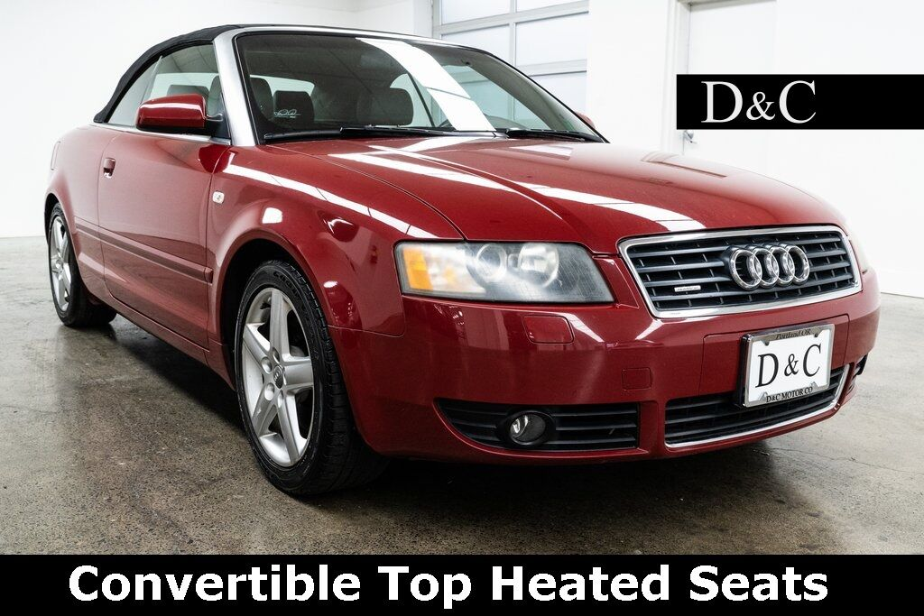 2005 Audi A4 3.0 Cabriolet quattro Convertible Top Heated Seats Portland OR