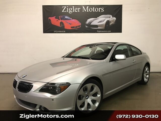 2005 BMW 6 Series 645Ci Coupe Panoramic Roof Clean Carfax Addison TX
