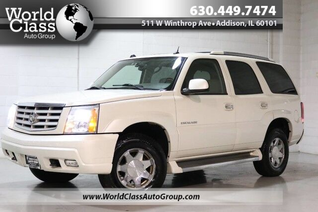 2005 Cadillac Escalade AWD WOODGRAIN INTERIOR POWER HEATED LEATHER SEATS SUN ROOF NAVIGATION REAR PARKING ASSIST THIRD ROW REAR HEATED SEATS & CLIMATE CONTROL BOSE AUDIO ALLOY WHEELS Chicago IL