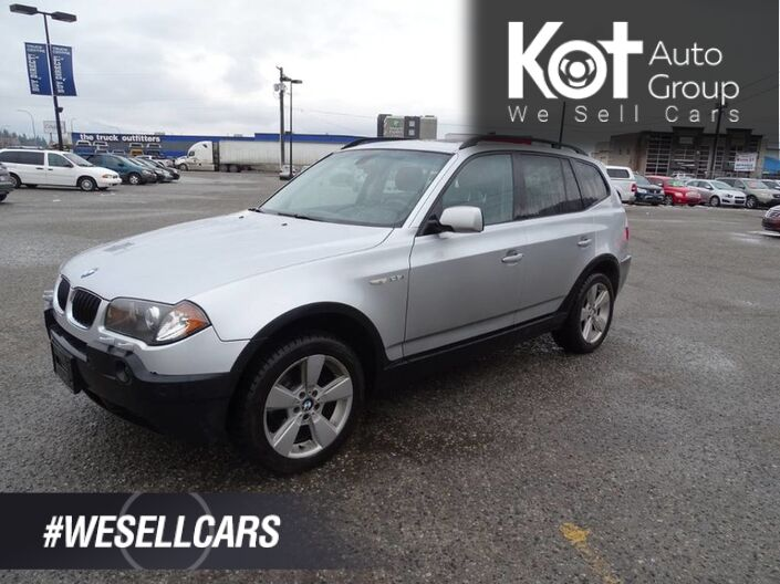 2006 BMW X3 2.5i Heated Leather Seats, Moonroof, Extra Set of Tires Kelowna BC