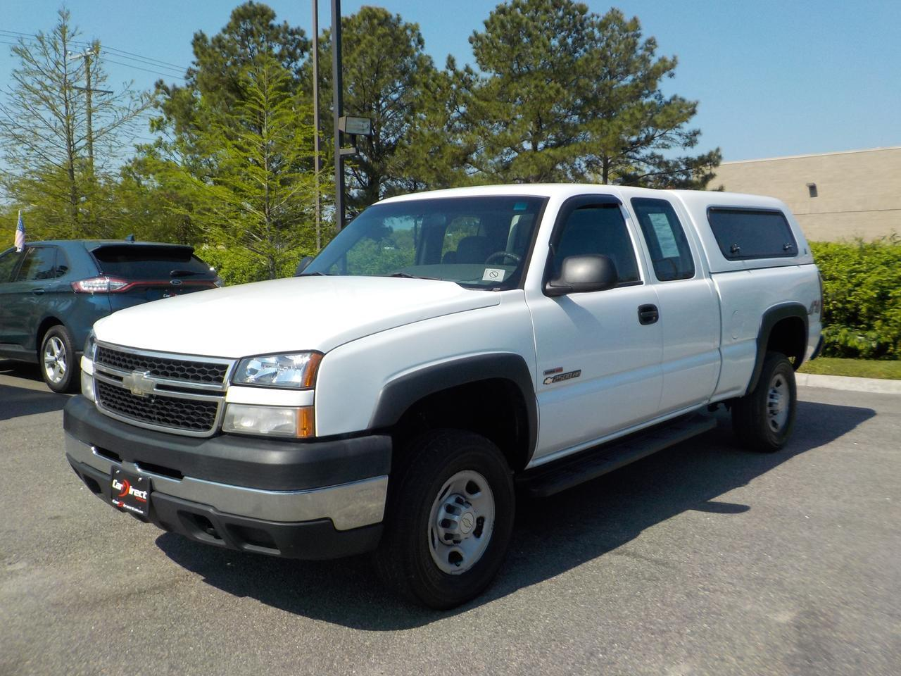 2006 CHEVROLET SILVERADO 2500 HD EXTENDED CAB LONGBED 4X4, LEATHER, POWER SEATS, BACKUP CAMERA, BEDLINER, TOW PACKAGE!
