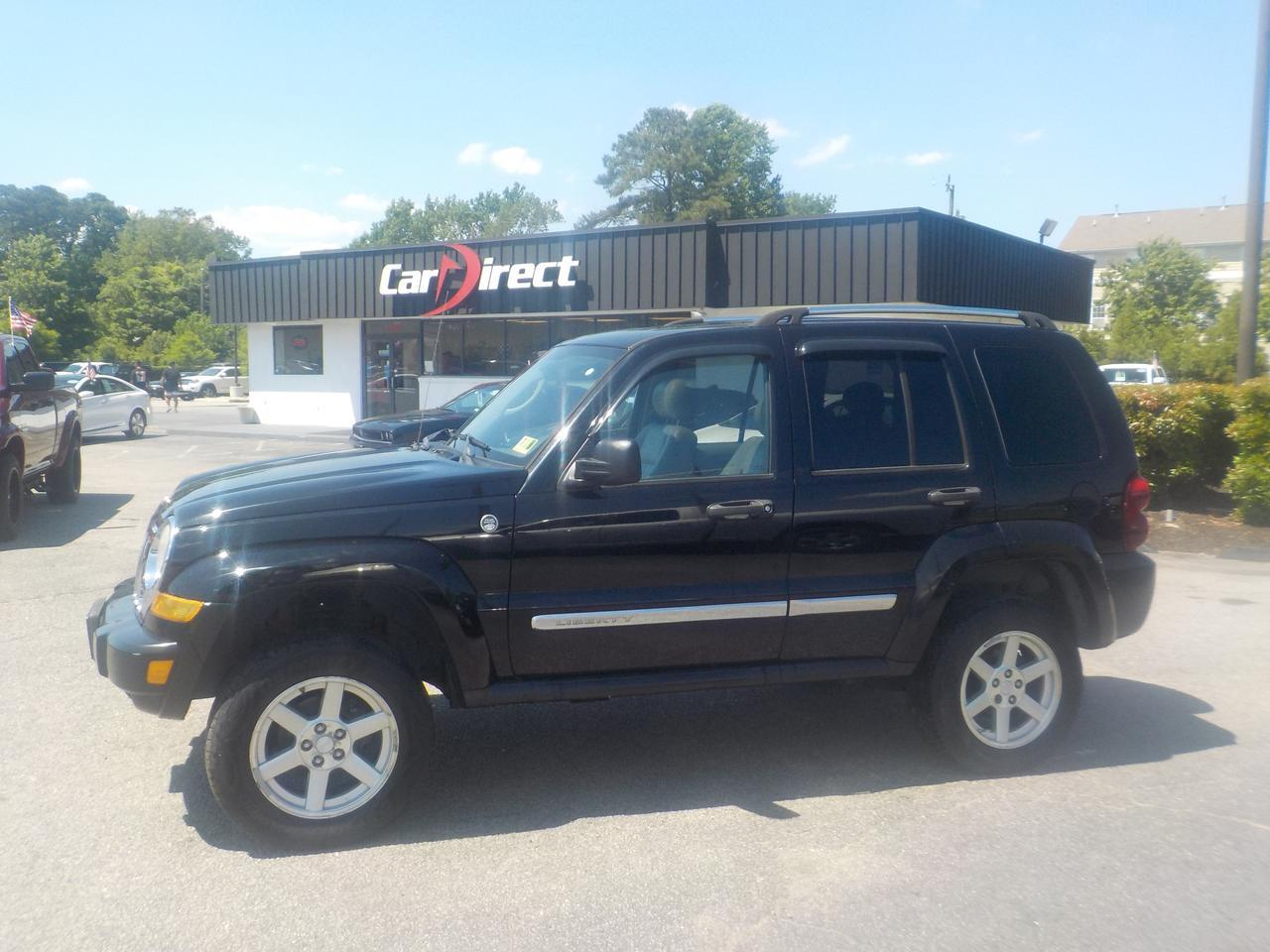 2006 JEEP LIBERTY LIMITED 4X4, WARRANTY, JVC SOUND SYSTEM, ROOF RACKS, LEATHER, WHOLESALE TO THE PUBLIC!!