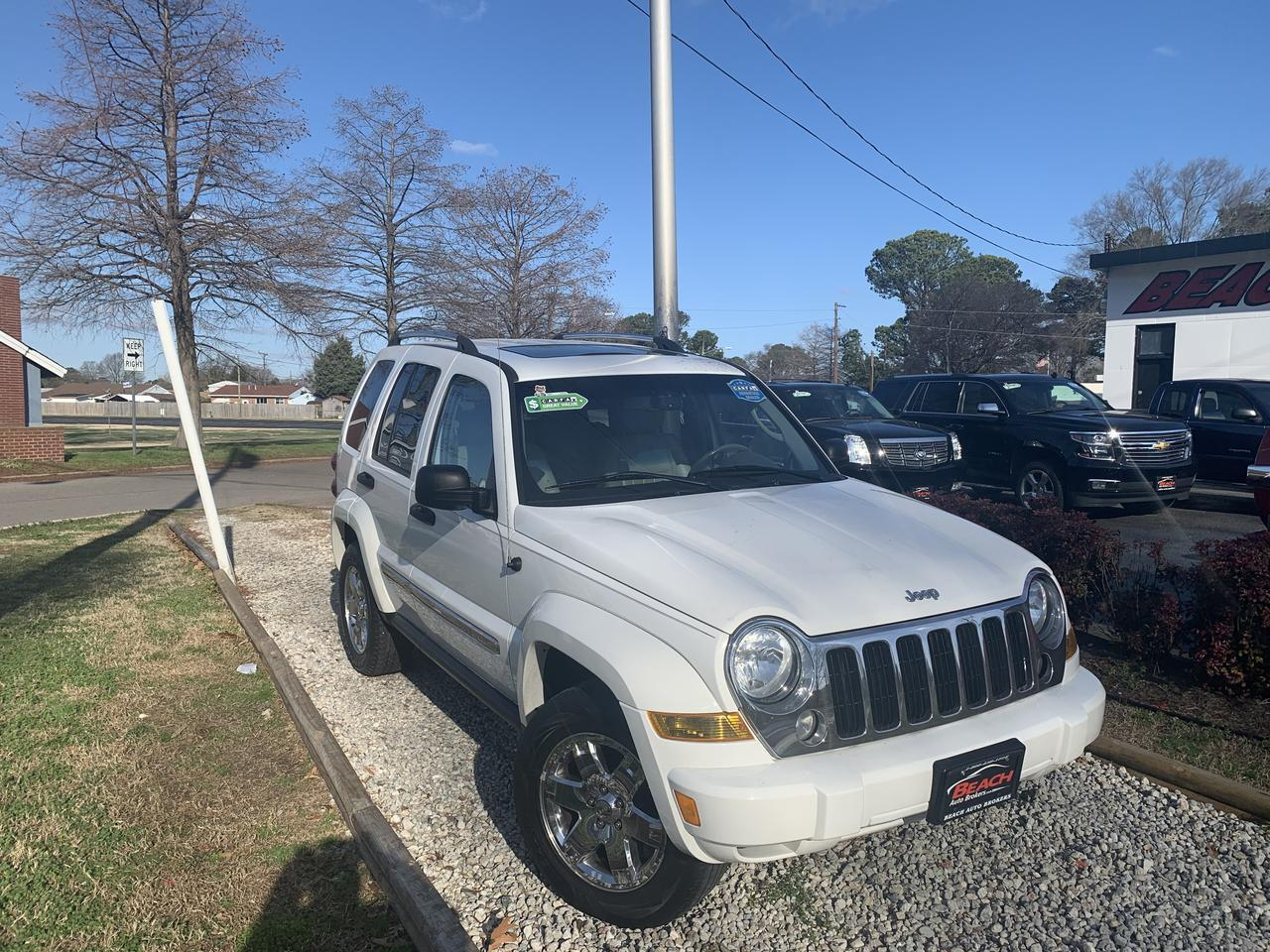 2006 JEEP LIBERTY LIMITED 4X4, WARRANTY, LEATHER, SUNROOF, BLUETOOTH, HEATED SEATS, AUX PORT!