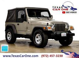 2006_Jeep_Wrangler_SE 4WD SOFT TOP CONVERTIBLE ADJUSTABLE STEERING WHEEL COLUMN_ Carrollton TX