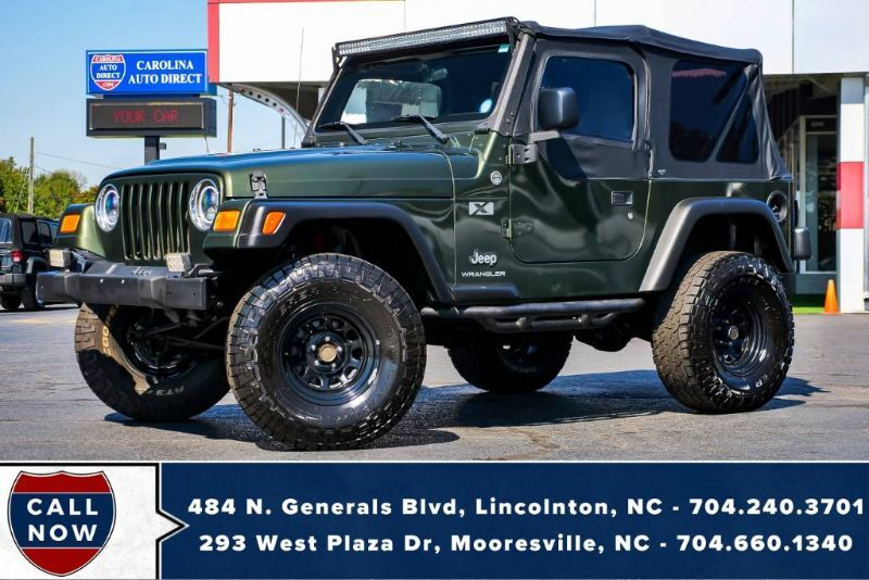 2006 Jeep Wrangler X 4X4 *MANUAL* Soft Top w/ LED's & Off-Road Jack Mooresville NC