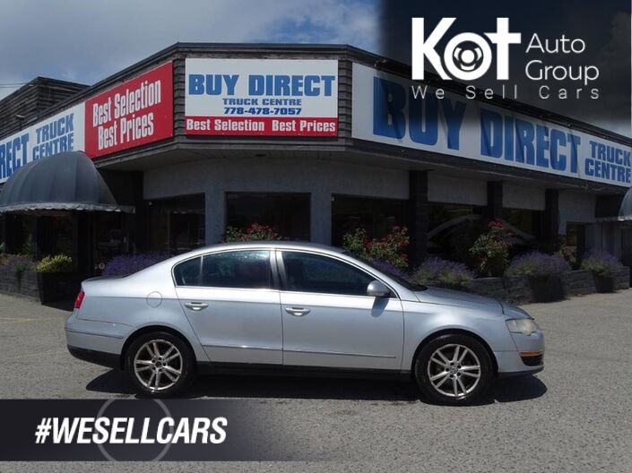 2006 Volkswagen Passat Sedan 2.0T, Heated Leather Seats, Cruise Control, Power Locks and Wind Kelowna BC