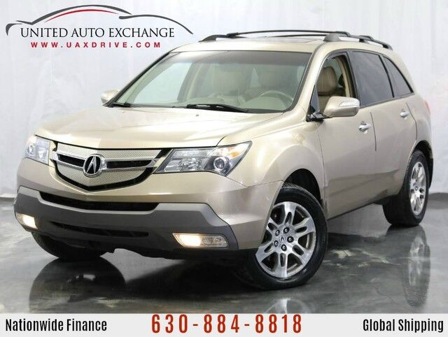 2007 Acura MDX 3.7L V6 Engine **3rd Row Seats** AWD w/ Tech Pkg, Navigation, Suroof Addison IL