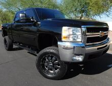 2007_Chevrolet_Silverado 2500HD LTZ 4x4 CREW SB 6 LIFT 35s ON 20s LOADED_6.6 DURAMAX DIESEL ALLISON 6spd TRANS BLACK ON BLACK_ Phoenix AZ