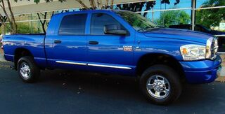 Dodge Ram 2500 MEGA CAB 4x4 LARAMIE 163K MILES 6.7L CUMMINS DIESEL RARE ELECTRIC BLUE GREY LEATHER 2007