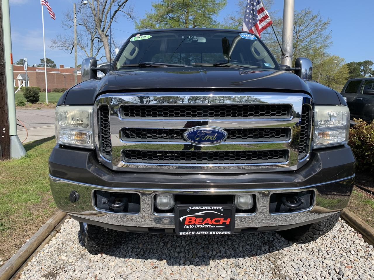 2007 FORD F-250 LARIAT CREW CAB 4X4, WARRANTY, DIESEL, FX4 OFF ROAD PKG, LEATHER, BACKUP CAM, HEATED SEATS! Norfolk VA
