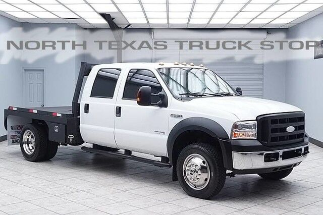 2007 Ford Super Duty F-550 XL Diesel 4x4 Flat Bed Hauler Crew Cab
