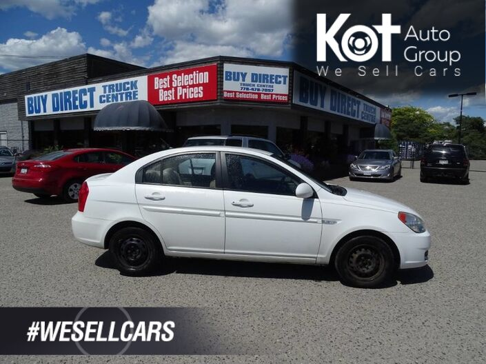 2007 Hyundai Accent GL, A/C 4 Door, Great First vehicle Kelowna BC