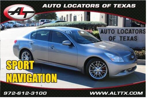 2007 INFINITI G35 Sedan Sport with NAVIGATION Plano TX