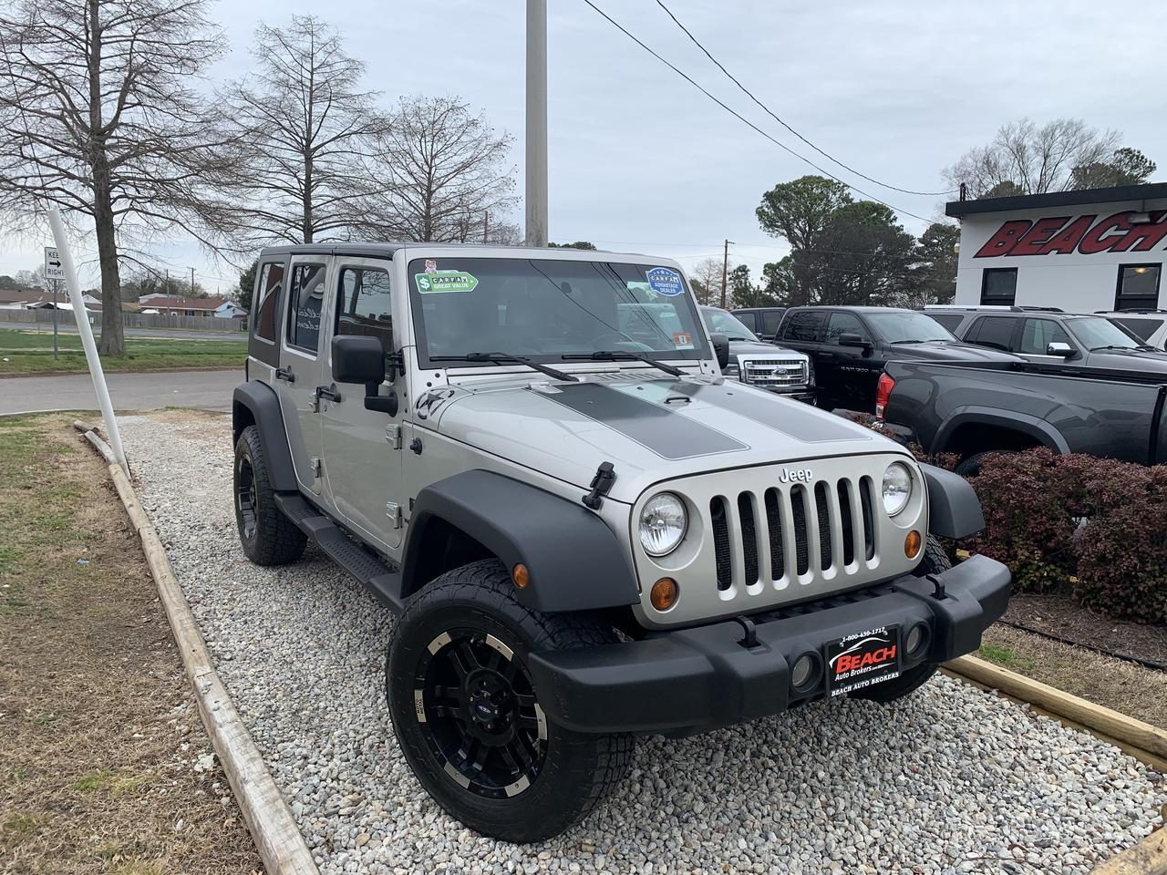 2007 JEEP WRANGLER UNLIMITED X 4X4, WARRANTY, HARD/SOFT TOP, SIRIUS RADIO, LEATHER, BLUETOOTH, CLEAN CARFAX! Norfolk VA