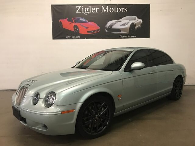2007 Jaguar S-TYPE R V8 Supercharged 400hp Two Owner Clean Carfax Low miles Addison TX