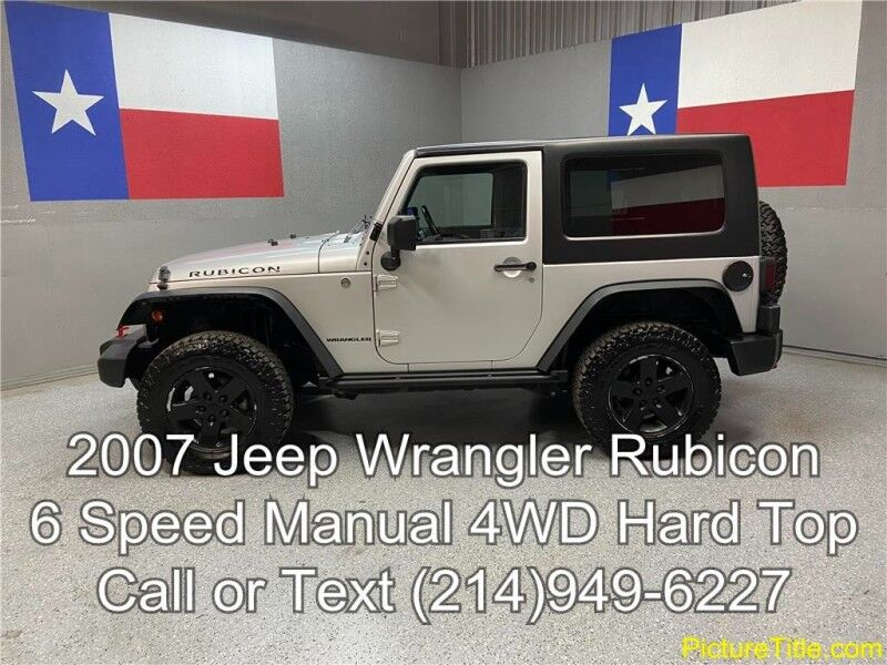 2007 Jeep Wrangler 2007 Rubicon 4WD 2 Dr Hardtop 6 spd Manual Locking Diffs Arlington TX