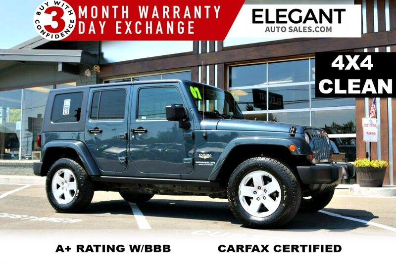 2007 Jeep Wrangler Unlimited Sahara SUPER CLEAN 4X4 V6