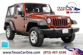 2007_Jeep_Wrangler_X 4WD SOFT TOP CONVERTIBLE TOWING HITCH VINYL SEATS_ Carrollton TX