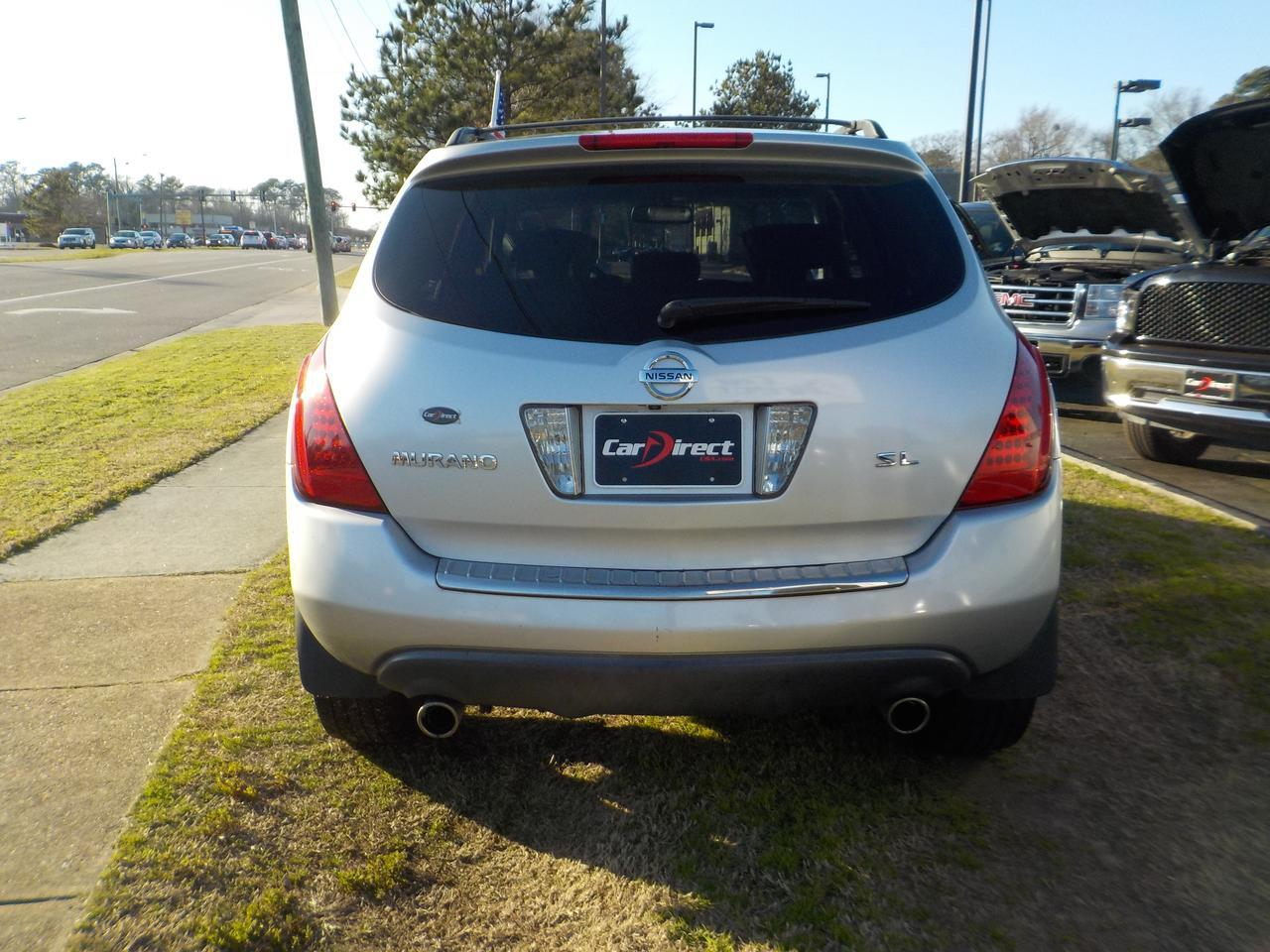 2007 NISSAN MURANO SL, WARRANTY, BOSE SOUND SYSTEM, SUNROOF, ROOF RACKS, MULTI DISC CD, LEATHER! Virginia Beach VA