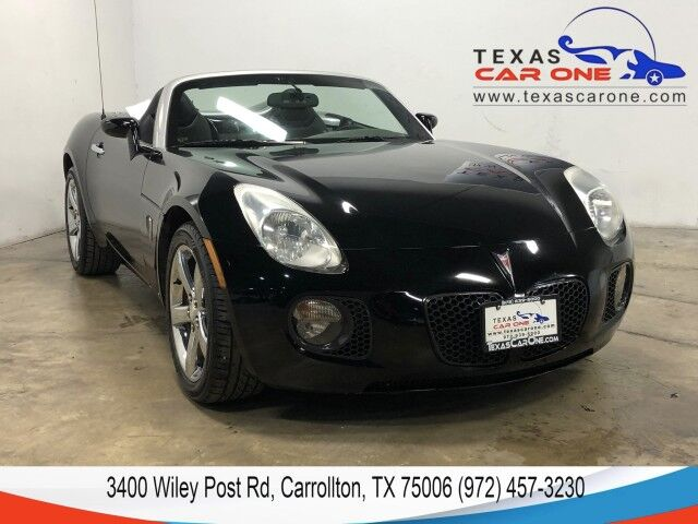 2007 Pontiac Solstice GXP LEATHER SEATS LEATHER STEERING WHEEL CRUISE CONTROL ALLOY WH Carrollton TX