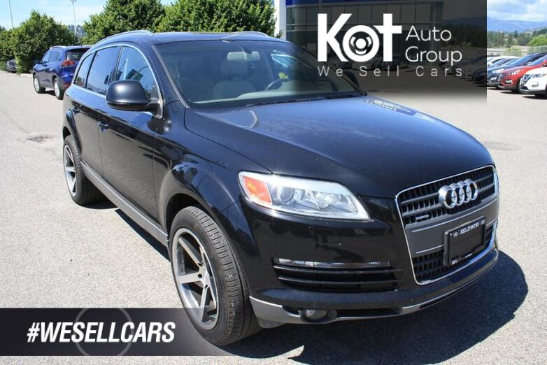 2008 Audi Q7 4.2L BLUETOOTH! NAVIGATION! SUNROOF! LEATHER! BACKUP CAMERA! POWER DRIVER'S SEAT! FULL LOAD! Kelowna BC