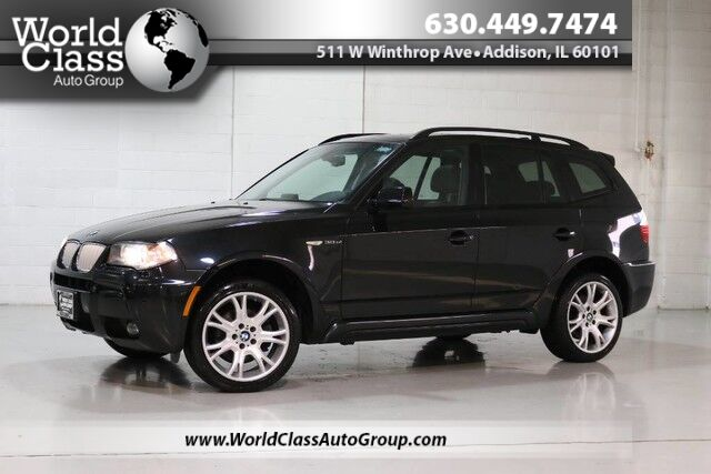 2008 BMW X3 3.0si - M PACKAGE PANO ROOF HEATED LEATHER SEATS NAVIGATION PARK ASSIST WOOD GRAIN INTERIOR Chicago IL