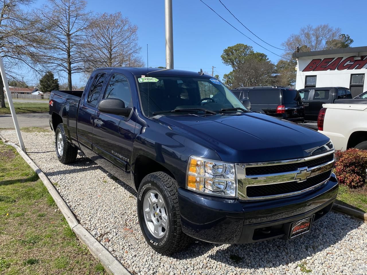 2008 CHEVROLET SILVERADO 1500 LT EXTEND CAB 4X4, WARRANTY, AUX PORT, SINGLE CD PLAYER, ONSTAR, Z-71 PKG, 1 OWNER! Norfolk VA