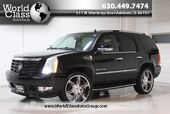 2008 Cadillac Escalade AWD HEATED LEATHER SEATS POWER ADJUSTABLE SEATS WOOD GRAIN INTERIOR REAR ENTERTAINMENT SYSTEM NAVIGATION PARKING SENSORS BACKUP CAMERA THIRD ROW
