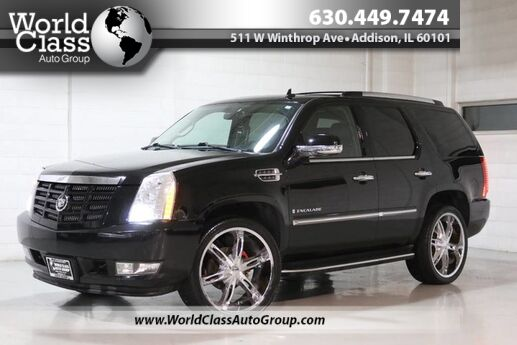 2008 Cadillac Escalade AWD HEATED LEATHER SEATS POWER ADJUSTABLE SEATS WOOD GRAIN INTERIOR REAR ENTERTAINMENT SYSTEM NAVIGATION PARKING SENSORS BACKUP CAMERA THIRD ROW Chicago IL