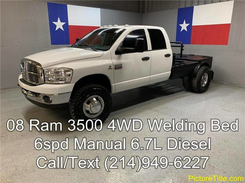 2008 Dodge Ram 3500 2008 SLT 4WD 6.7L Cummins Diesel 6 Speed Welding Bed