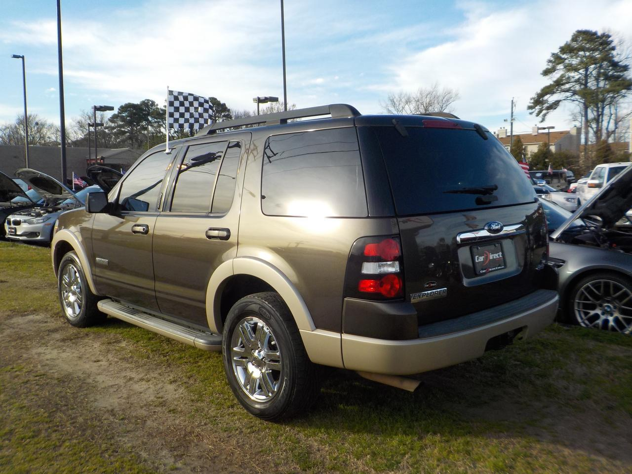 2008 FORD EXPLORER EDDIE BAUER EDITION 4X4,SUNROOF, ROOF RACKS, TOW, POWER 3RD ROW SEATING, BLUETOOTH! Virginia Beach VA