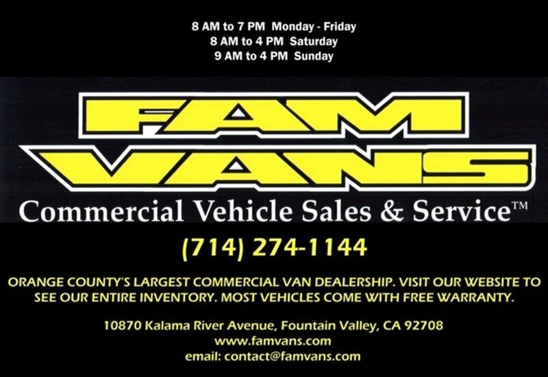2008 Ford E-350 4x4 Extended Cargo Van Fountain Valley CA