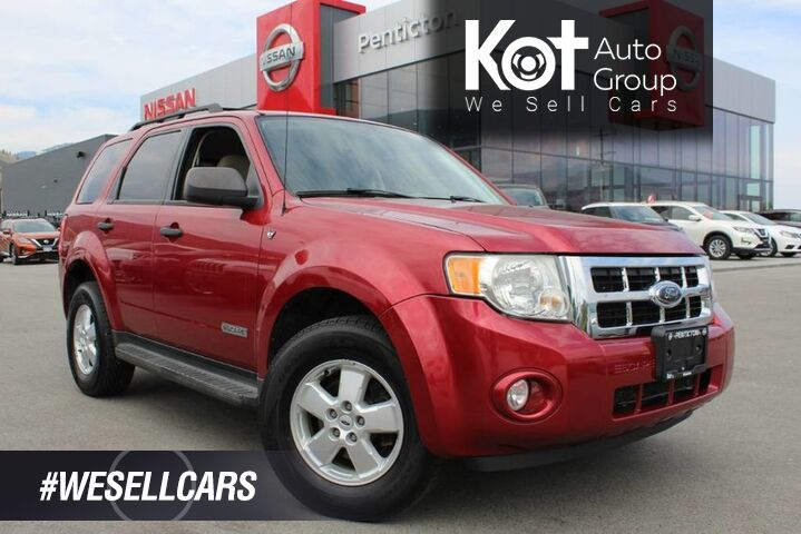 2008 Ford Escape XLT 4WD, Lots of Room, Beautiful Redfire Metallic Exterior Kelowna BC