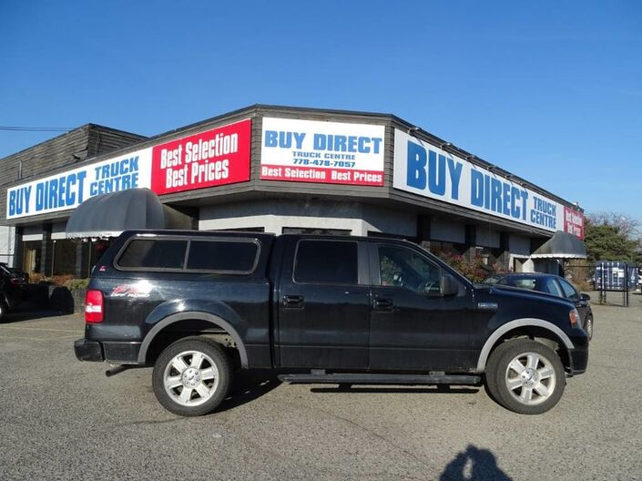 2008 Ford F-150 FX4, Leer Canopy, Running Boards, Hitch Attachment, Leather Seats Kelowna BC