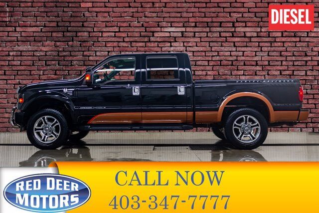 2008 Ford F-250 4x4 Crew Cab Harley Davidson Diesel Leather Roof Red Deer AB