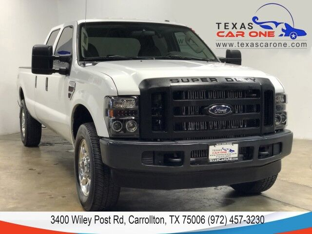 2008 Ford F-250 SD XL CREW CAB 4WD TURBO DIESEL AUTOMATIC VINYL SEATS TOWING HITCH BED LINER Carrollton TX