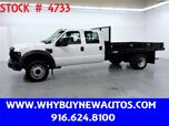 2008 Ford F550 ~ 12ft Flat Bed ~ PowerStroke Diesel ~ Crew Cab ~ Only 29K Miles!