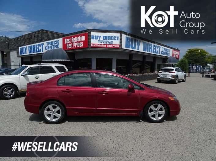 2008 Honda Civic Sdn LX, 4 Door, Manual Transmission Kelowna BC