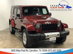 2008_Jeep_Wrangler_UNLIMITED SAHARA 4WD AUTOMATIC HARD TOP CONVERTIBLE LEATHER SEATS CRUISE CONTROL_ Carrollton TX
