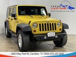 2008_Jeep_Wrangler_UNLIMITED X 4WD HARD TOP CONVERTIBLE ALLOY WHEELS LEATHER STEERING WHEEL_ Carrollton TX