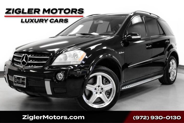 2008 Mercedes-Benz ML 63 6.3L AMG V8 AWD 20 Inch Wheels Heads-Up Display Keyless-Go Rear Addison TX