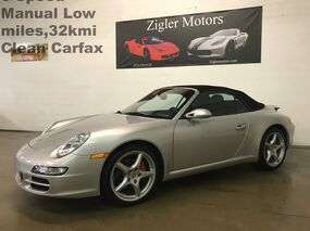 Porsche 911 Carrera Cabriolet 6-Speed Manual Navigation 19 Wheels 32kmi Clean Carfax 2008