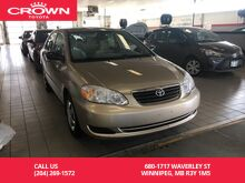 2008_Toyota_Corolla_CE Auto Enhanced Convenience Pkg / Low Kms / Clean Carproof / Local / Great Service History / Unbeatable Value_ Winnipeg MB