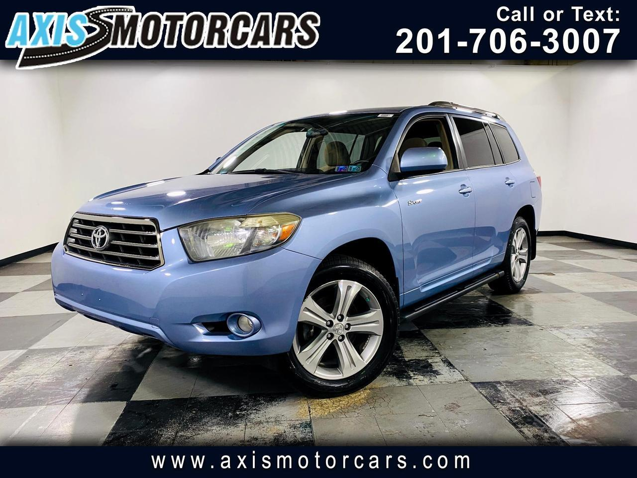 2008 Toyota Highlander 4WD 4dr Sport w/Backup Camera Jersey City NJ
